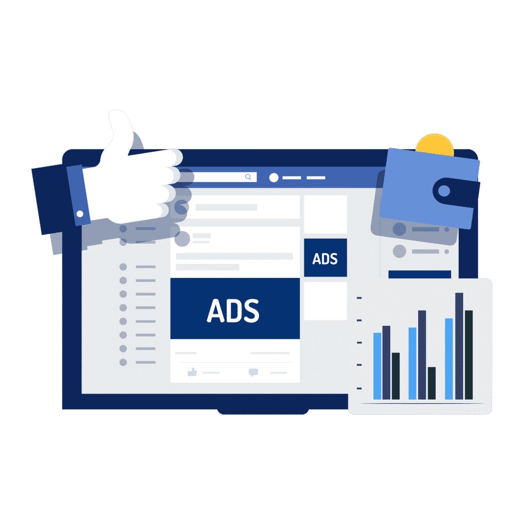 A illustration of facebook Ads