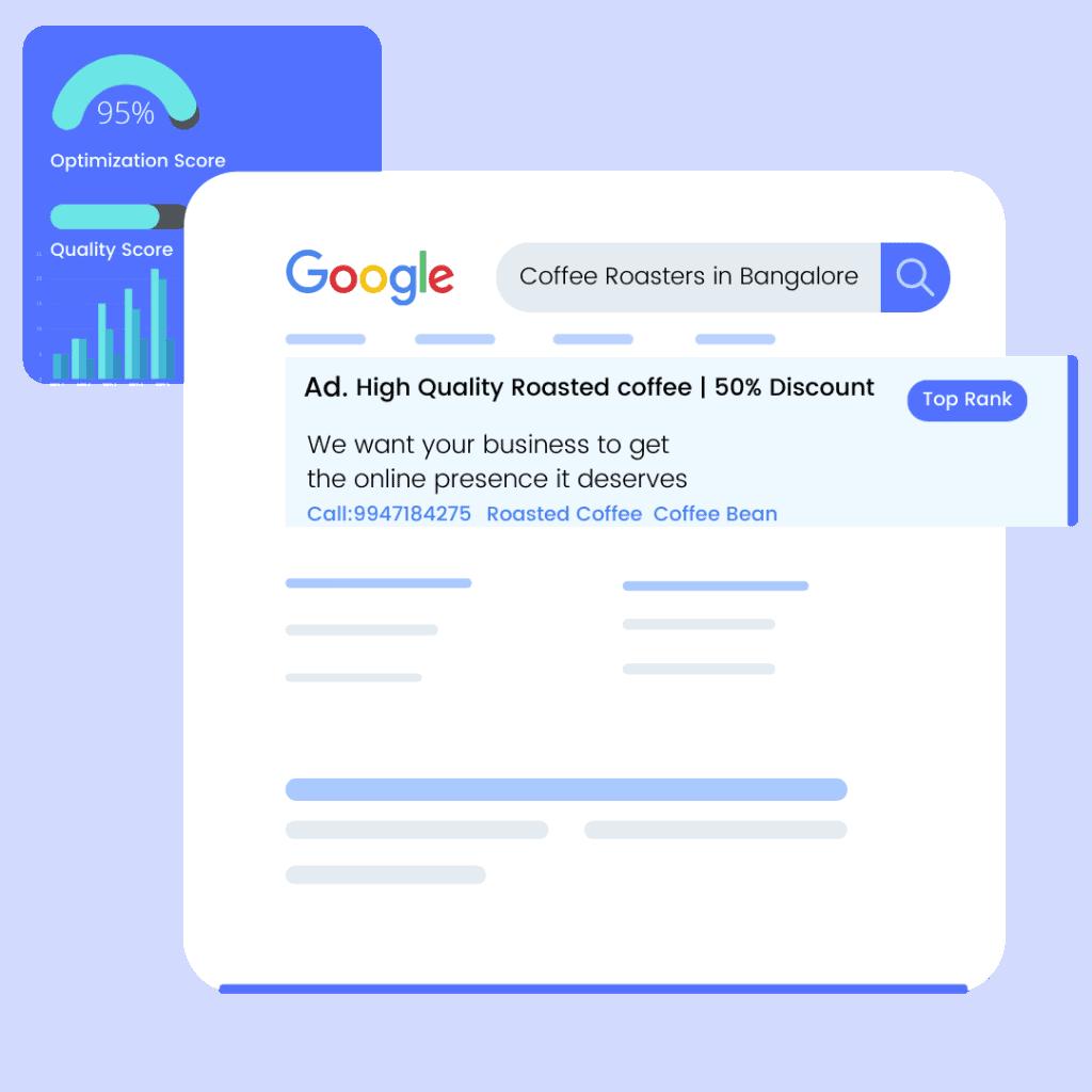 Google Ad Search Result Illustration